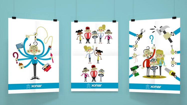 posterillustraties sonar jeugd- en opvoedhulp
